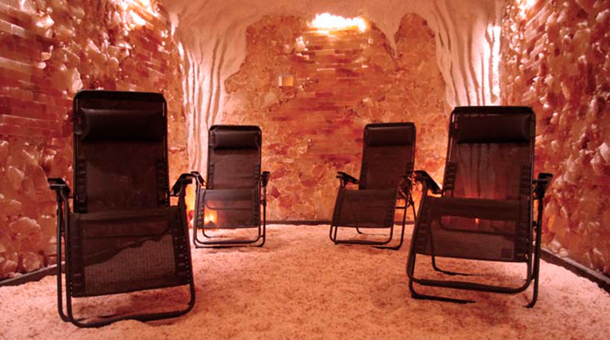 Cоляная комната, соляной грот, галокамера – отделка из розовой гималайской соли